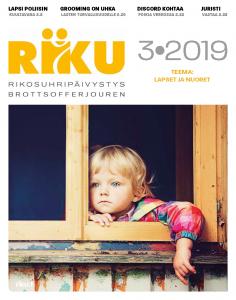 RIKU-lehden 3/19 kansikuva. Lapset ja nuoret