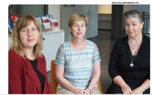 Helena Ewalds, kehittämispäällikkö; Katriina Bildjuschkin, asiantuntija; Reetta Siukola, kehittämispäällikkö