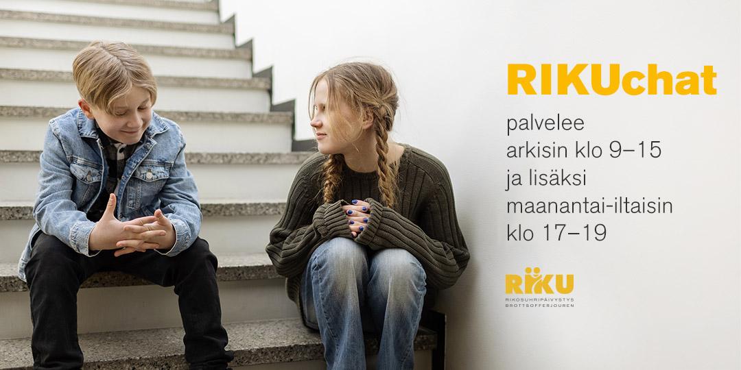 RIKUchat palvelee arkisin klo 9-15 ja lisäksi maanantai-iltaisin klo 17-19.